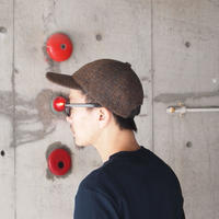 morno〈モーノ〉 MOON 6PANEL  B.B. CAP RED/CAMEL