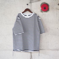 【unisex】have a good day〈ハブアグッデイ〉 BORDER LOOSE FIT TEE BLACK