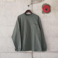 Goodwear〈グッドウェア〉 U.S.A. COTTON LONG SLEEVE TEE SMOKEY KHAKI