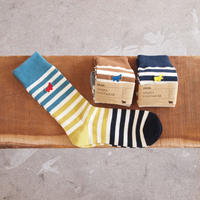 s&nd〈セカンド〉 CRAZY BORDER SOX BLUE/CAMEL/NAVY