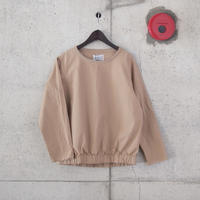 【women】Manual Alphabet〈マニュアルアルファベット〉 OVER DYE LONG SLEEVES PULLOVER BEIGE