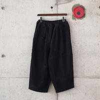 【women】Ordinary fits〈オーディナリーフィッツ〉 BALL PANTS  corduroy BLACK