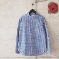 【women】Manual Alphabet〈マニュアルアルファベット〉 GINGHAM BESIC SHIRT NAVY