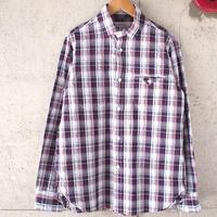 Ordinary fits〈オーディナリーフィッツ〉  Invisible BD Shirt インビジブルボタンダウンチェックシャツ (OM-S006) PINK