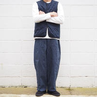 【unisex】Ordinary fits〈オーディナリーフィッツ〉 JAMES PANTS stripe  NAVY
