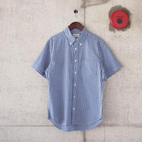 Manual Alphabet〈マニュアルアルファベット〉GINGHAM BASIC BD SHIRT NAVY