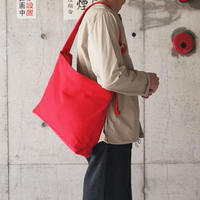 Lim home〈リムホーム〉 CANVAS SHOULDER BAG RED