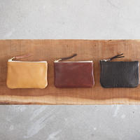 Esperanto〈エスペラント〉 COW LEATHER MINI POUCH  CAMEL/BROWN/BLACK