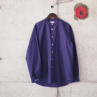Manual Alphabet〈マニュアルアルファベット〉 LOOSE FIT BAND COLLAR SHIRT  PURPLE