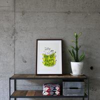 FRUIT OF THE LOOM〈フルーツオブザルーム〉 FRUIT PARLOR アートボード - Art by ATUSHI KANAI