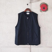 Manual Alphabet〈マニュアルアルファベット〉 NYLON TWILL WORK VEST NAVY