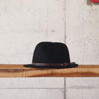 morno〈モーノ〉 PORTUGAL RABBIT WOOL HAT BLACK
