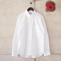 Manual Alphabet〈マニュアルアルファベット〉 GIZA88 ブロードボタンダウンシャツ WHITE
