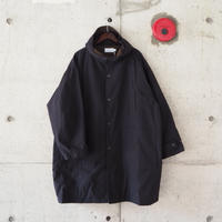 Manual Alphabet〈マニュアルアルファベット〉 WHETHER HOOD OVER COAT NAVY