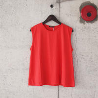 【women】HAOLU〈ハオル〉 NO SLEEVE PULL OVER CHERRY