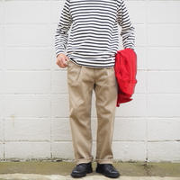 Manual Alphabet〈マニュアルアルファベット〉 TWILL WIDE TROUSERS BEIGE