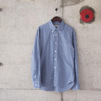 Manual Alphabet〈マニュアルアルファベット〉 GINGHAM CHECK BASIC BD SHIRT NAVY