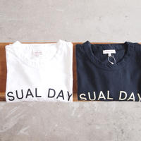 SEIRYU & Co.〈セイリューアンドコー〉 USUAL DAYS T-SHIRT WHITE/NAVY