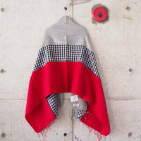 hint hint〈ヒントヒント〉  STOLE (18) RED×GREY