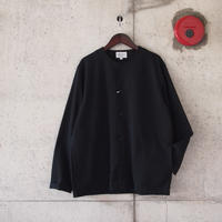 Manual Alphabet〈マニュアルアルファベット〉 SEERSUCKER SHIRT CARDIGAN  BLACK