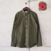 Manual Alphabet〈マニュアルアルファベット〉 COTTON FLANNEL B.D SHIRT OLIVE
