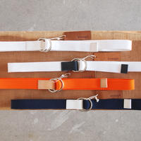 ART BROWN × enough 別注 RING BELT カラー:4色展開 WHITE×white ORANGE×nume WHITE×navy NAVY×white