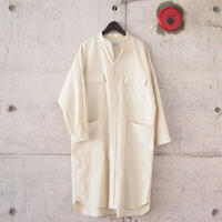 【women】Manual Alphabet〈マニュアルアルファベット〉 CORDUROY DOLMAN ONE PIECE WHITE