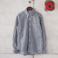 Manual Alphabet〈マニュアルアルファベット〉 DUNGAREE BD SHIRT BLACK CHECK