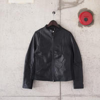 【women】AWESOME LEATHER〈オーサムレザー〉 SIDERIB SINGLE RIDERS BLACK