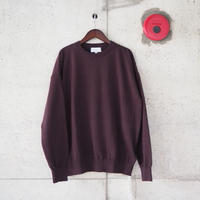 Manual Alphabet〈マニュアルアルファベット〉 ALL TIME KNIT-CREW BROWN