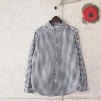 【women】Manual Alphabet〈マニュアルアルファベット〉 GINGHAM BESIC SHIRT BLACK