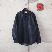 Manual Alphabet〈マニュアルアルファベット〉 6.5oz DENIM V-NECK SHIRT CARDIGAN NAVY