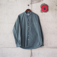Manual Alphabet〈マニュアルアルファベット〉 LOOSE FIT BAND COLLAR SHIRT  GREY