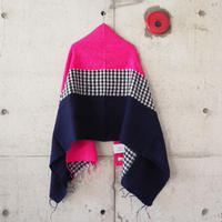 hint hint〈ヒントヒント〉  STOLE (18) NAVY×PINK