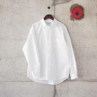 Manual Alphabet〈マニュアルアルファベット〉 LOOSE FIT REGULAR COLLAR SHIRT WHITE