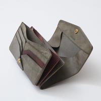 combination long wallet(グリージオ×ダークブラウン)