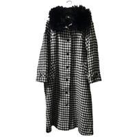 【スペシャルプライス】shaggy check fur long coat