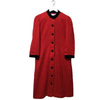 red 2way one-piece coat