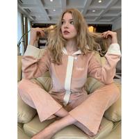 【限定品】épine jersey set up pink beige