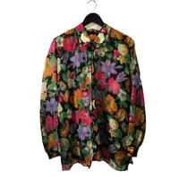 flower gold line design blouse