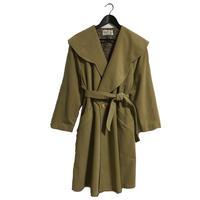 cape belt coat beige
