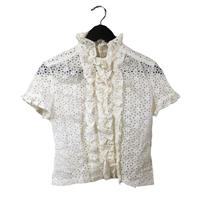 lace frill design blouse