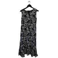 monotone flower design one-piece