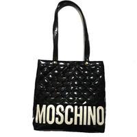 MOSCHINO logo patent tote bag