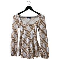 Burberry Check Back ribbon tops
