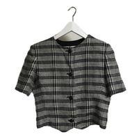 Dior check blouse