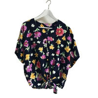 ribbon design flower blouse