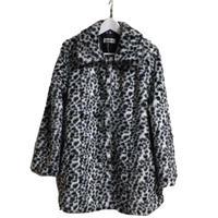 monotone leopard fur coat