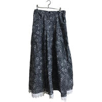 monotone flower design skirt