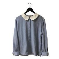 ice blue design vintage blouse